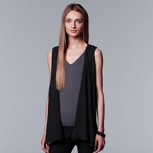 6b720781e6f Women s Simply Vera Vera Wang Draped Vest