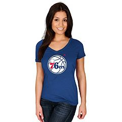 Women's Majestic Philadelphia 76ers Tee