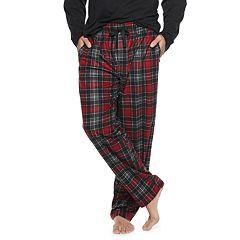 Big & Tall Chaps Plaid Fleece Sleep Pants