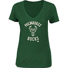 Women's Majestic Milwaukee Bucks Main Tee