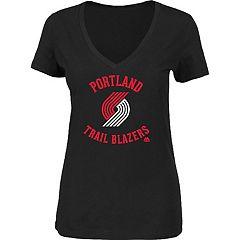 Women's Majestic Portland Trail Blazers Main Tee