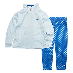 Toddler Girl Nike Fluted Full Zip Jacket and Leggings 2-Piece Set
