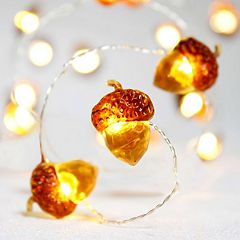 Manor Lane 10-ft. Harvest Acorn String Lights