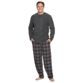 Big & Tall Chaps Fleece Tee & Plaid Flannel Lounge Pants Set