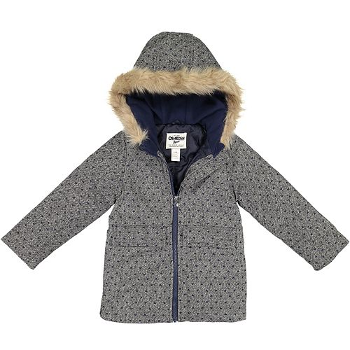 Girls 4-8 OshKosh B'gosh® Faux-Wool Tweed Midweight Jacket