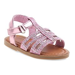 Rugged Bear Studded Toddler Girls' Sandals