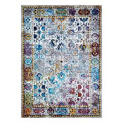 Couristan Gypsy Retro Damsel Framed Floral Rug