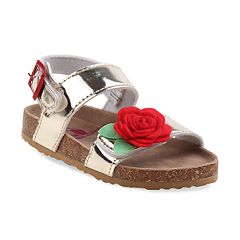 Rugged Bear Floral Toddler Girls' Sandals