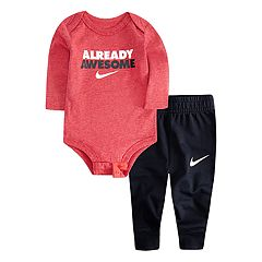 Baby Boy Nike 'Already Awesome' Bodysuit & Jogger Pants Set