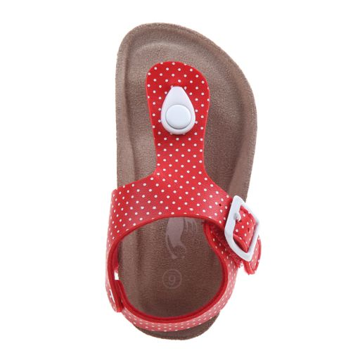 Rugged Bear Polka Dot Toddler Girls' Sandals