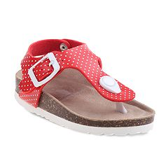 Rugged Bear Polka Dot Toddler Girls' Sandals