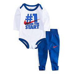 Baby Boy Nike 'Number 1' Bodysuit & Athletic Pants Set