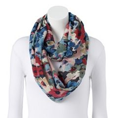 Women's Chaps Painterly Floral Infinity Scarf