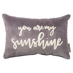 ''You are My Sunshine'' Velvet Oblong Throw Pillow