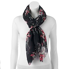 Women's Chaps Floral Oversized Oblong Wrap Scarf