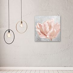 Artissimo Designs Pink Elegant On Gray Canvas Wall Art