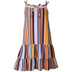 Girls 7-16 Bonnie Jean Striped Drop Waist Sun Dress