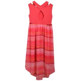 Girls 7-16 Bonnie Jean Striped Knit High-Low Hem Dress