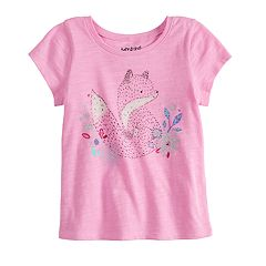 Baby Girl Jumping Beans® Fox Graphic Tee