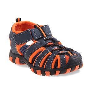 13 Youth Black//Blue Rugged Bear Boys Sport Sandals