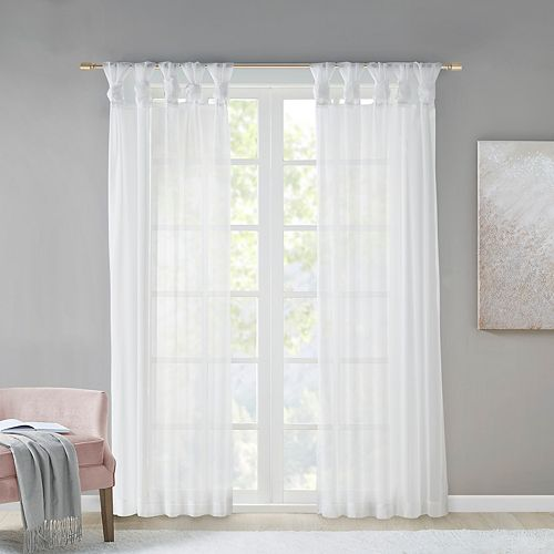Madison Park 2-pack Elowen Twisted Tab Voile Sheer Window Curtains