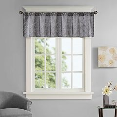 Madison Park Avalon Faux Silk Embroidered Window Valance