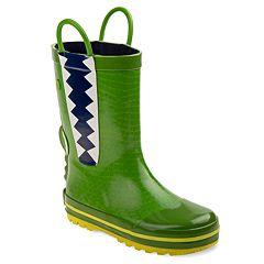 Rugged Bear Crocodile Boys' Waterproof Rain Boots
