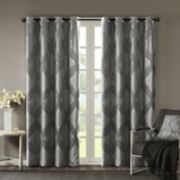 SunSmart Abel Ogee Knitted Jacquard Total Blackout Curtain