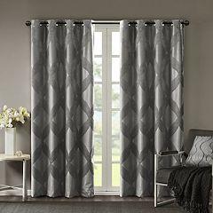 SunSmart Abel Ogee Knitted Jacquard Total Blackout Curtain