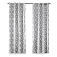 SunSmart Blackout 1-Panel Kagen Printed Ikat Curtain