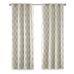 SunSmart Blackout 1-Panel Kagen Printed Ikat Curtain