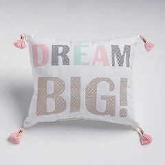 SONOMA Goods for Life™ Kids 'Dream Big' Throw Pillow