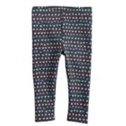 Baby Girl Jumping Beans® Printed Knit Leggings