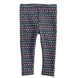 Baby Girl Jumping Beans® Printed Knit Leggings