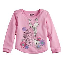 Toddler Girl  Jumping Beans® Animal French Terry Sweater
