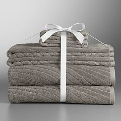 Simply Vera Vera Wang Sculptural Wave 6-piece Bath Towel Set