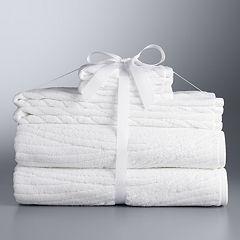 Simply Vera Vera Wang Sculptural Wave 6-piece Bath Towel Set