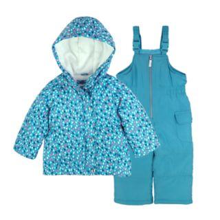 Girls 4-8 Carter's Printed Jacket & Bib Snowpants Set
