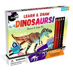 SpiceBox Imagine It! Dinosaurs Stencil & Color Kit
