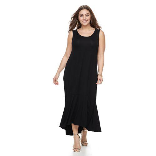 Plus Size Apt. 9® Ruffle High-Low Maxi Dress