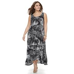 Plus Size Apt. 9® Ruffle High-Low Maxi Dress
