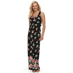 Juniors' Trixxi Floral Strappy Maxi Dress