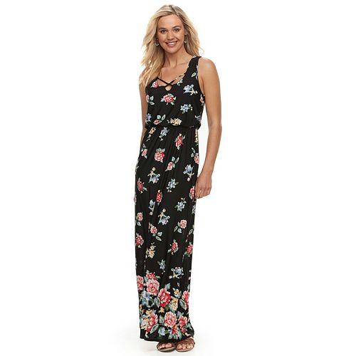7e6dfd76fa5 Juniors  Trixxi Floral Strappy Maxi Dress