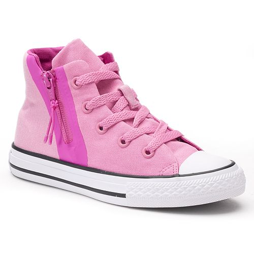 9970affc834d Girls  Converse Chuck Taylor All Star Sport Zip High-Top Sneakers