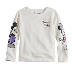 Disney's Mickey & Minnie Mouse Girls 4-10 Crewneck Fleece Graphic Sweatshirt Top  by Jumping Beans®