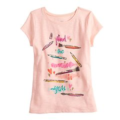 Girls 4-12 SONOMA Goods for Life® Glittery Graphic Tee