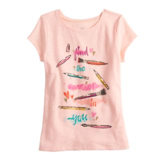 Girls 4-12 SONOMA Goods for Life? Glittery Graphic Tee