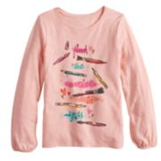 Girls 4-12 SONOMA Goods for Life? Shirred Glittery Graphic Tee