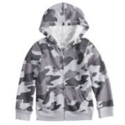 Boys 4-12 Jumping Beans® Camouflaged Softest Fleece Zip Hoodie