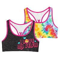 Girls 7-16 Mush 2-pack Selfie Tie-Dye Seamless Racerback Sports Bras